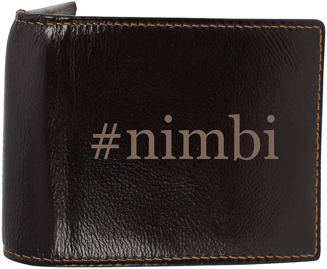 #nimbi - Genuine Engraved Hashtag Soft Cowhide Bifold Leather Wallet