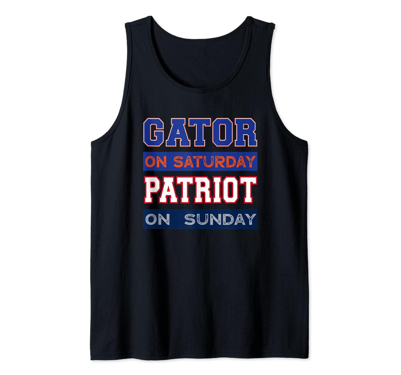 Gator On Saturday Patriot On Sunday New England Gainesville Tank Top