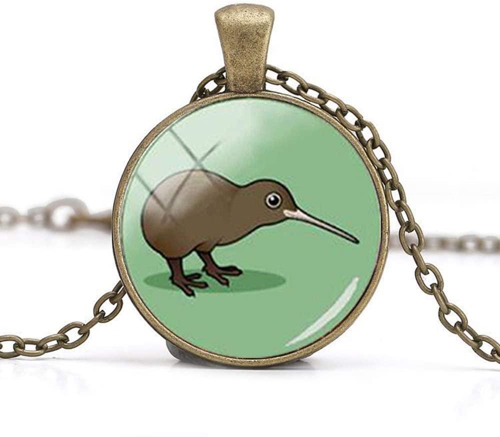 Beautiful Cute Kiwi Birds Lucky Necklace Glass Art Photo Jewelry Birthday Festival Gift Beautiful Gift