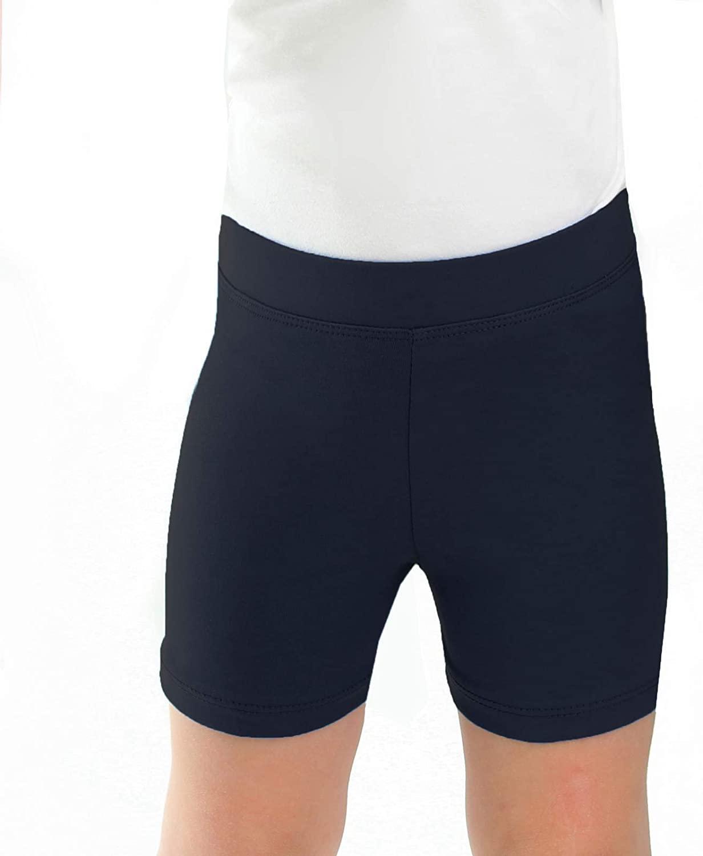 Silky Toes Girls Soft Cotton Summer Bike Shorts Casual Breathable Short Biker Leggings School Uniform