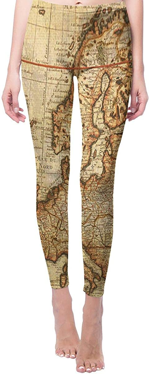 Game Life Leggings with Old Map Yoga Pants Trousers Sweatpants