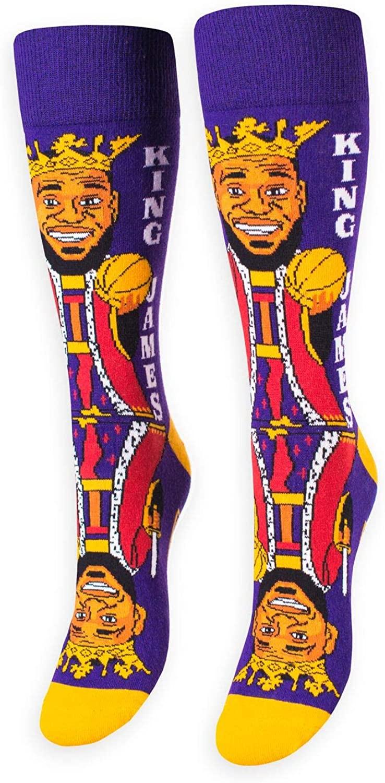 FREAKER Feet, Unisex Casual Dress Fun Colorful Cotton Crew Socks, King James