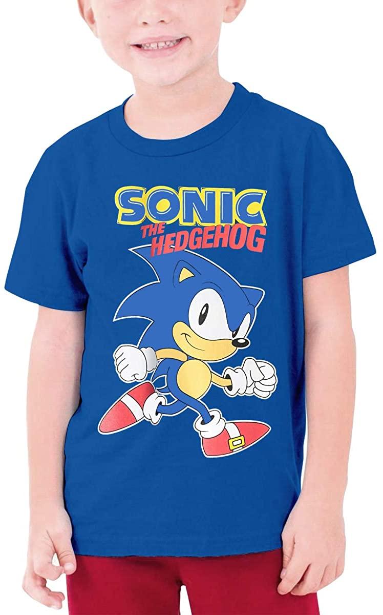 Fuxi Sonic The Hedgehog Boys/Girls Casual Short Sleeve Teenage T-Shirt.
