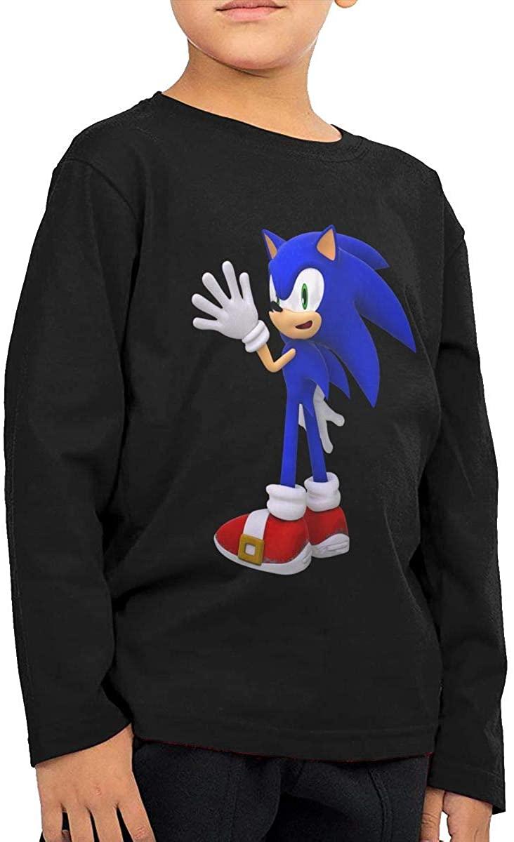 Vilisabull Sonic The Hedgehog Boys Long-Sleeved Sweatshirt, Round-Neck Top T-Shirt (2-6 Years Old),