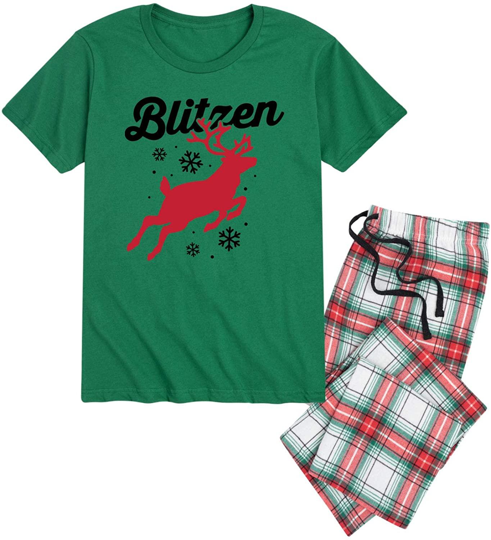 Nap Chat Reindeer Blitzen - Mens Pajama Set