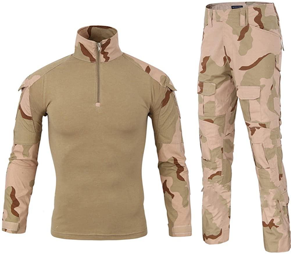 LANBAOSI Waterproof Tactical Combat Shirt Pants Military Uniform ACU Camo Set