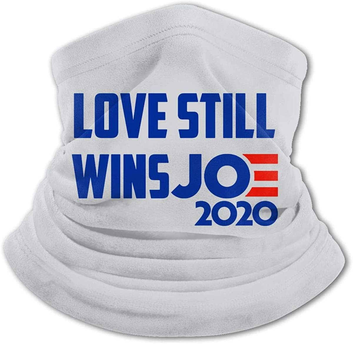 Love Still Wins Joe 2020 Youth Face Mask Bandanas Neck Gaiter Headband Boy Girl Scarf Balaclava For Cycling Hiking Outdoor