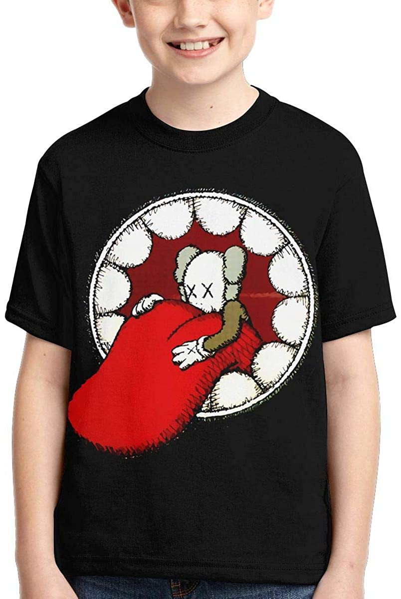 Joseph L Hurwitz KAWS Cartoon Youth T-Shirt Fashion Anime Shirt Boys and Girls Funny Children Short-Sleeved T-Shirt