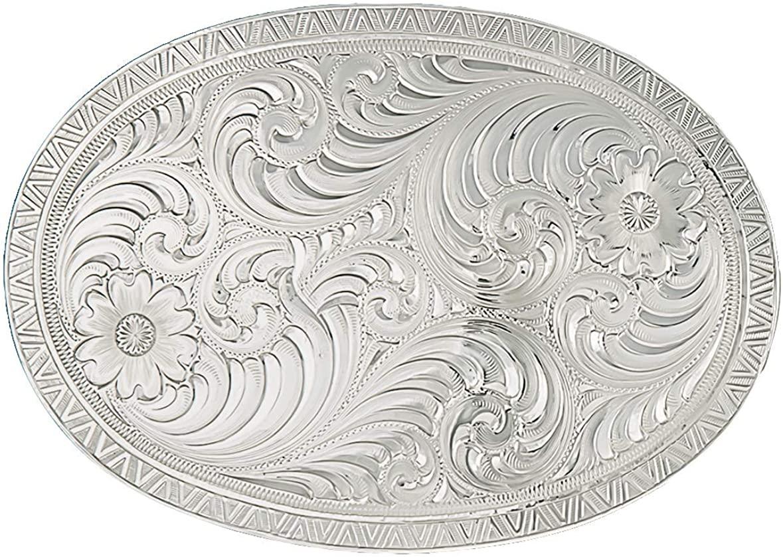 Montana Silversmiths Engraved Classic Western Belt Buckle