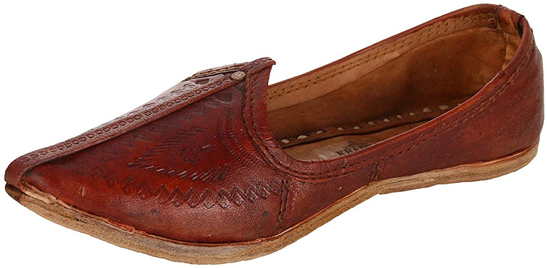UNTHREAD Handmade Ethnic Mens Indian Traditional Khussa Shoes Woven Jutti Mojari Slip-ons