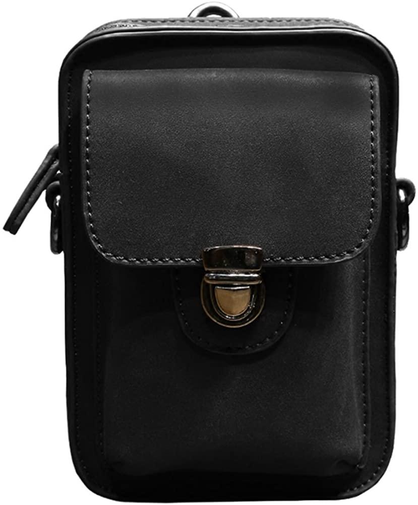 Mens Fanny Pack Waist Bag Leather Hip Bum Pouch Belt Hook