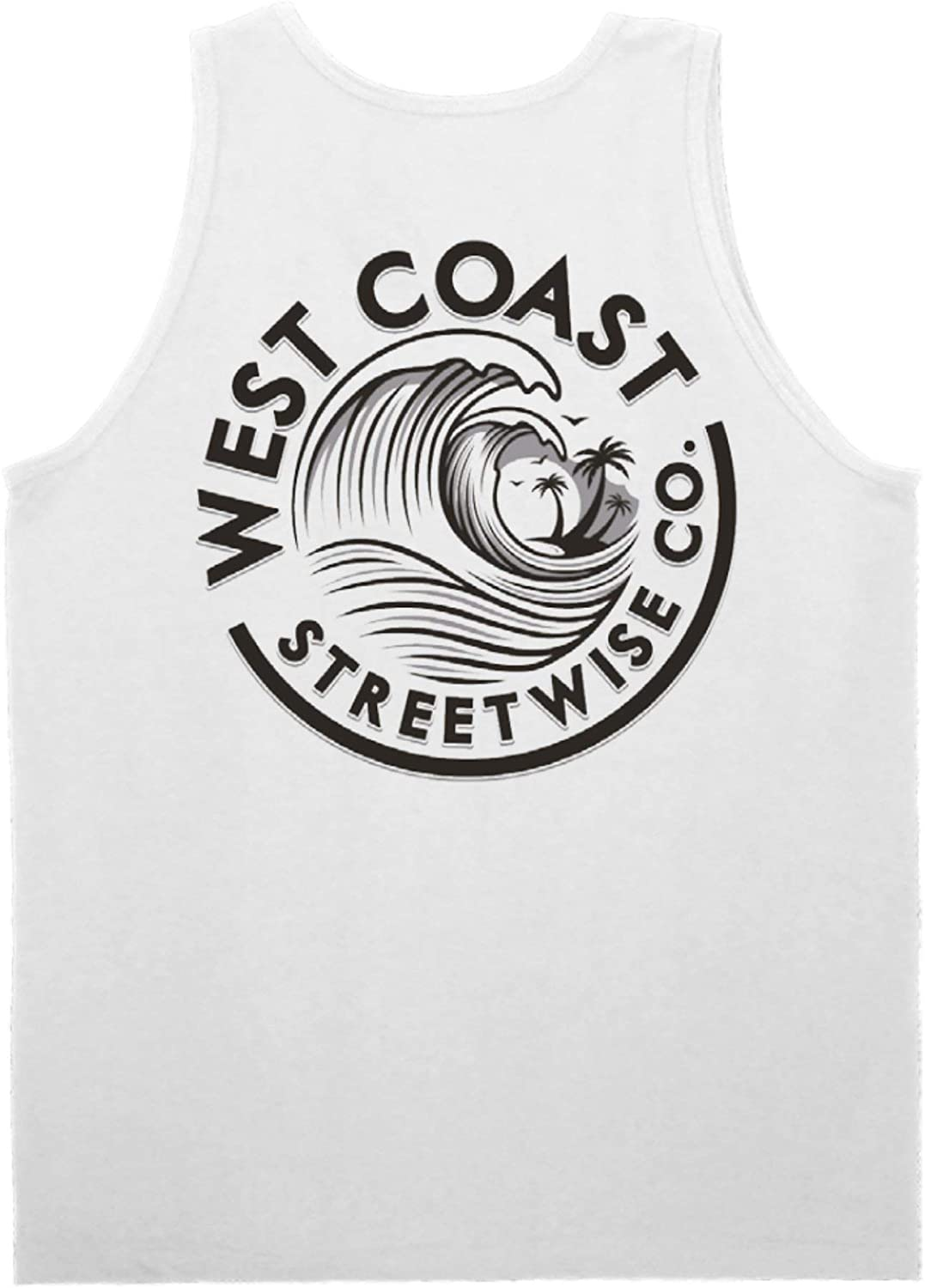 Streetwise Wave Coast Tank Top (White)