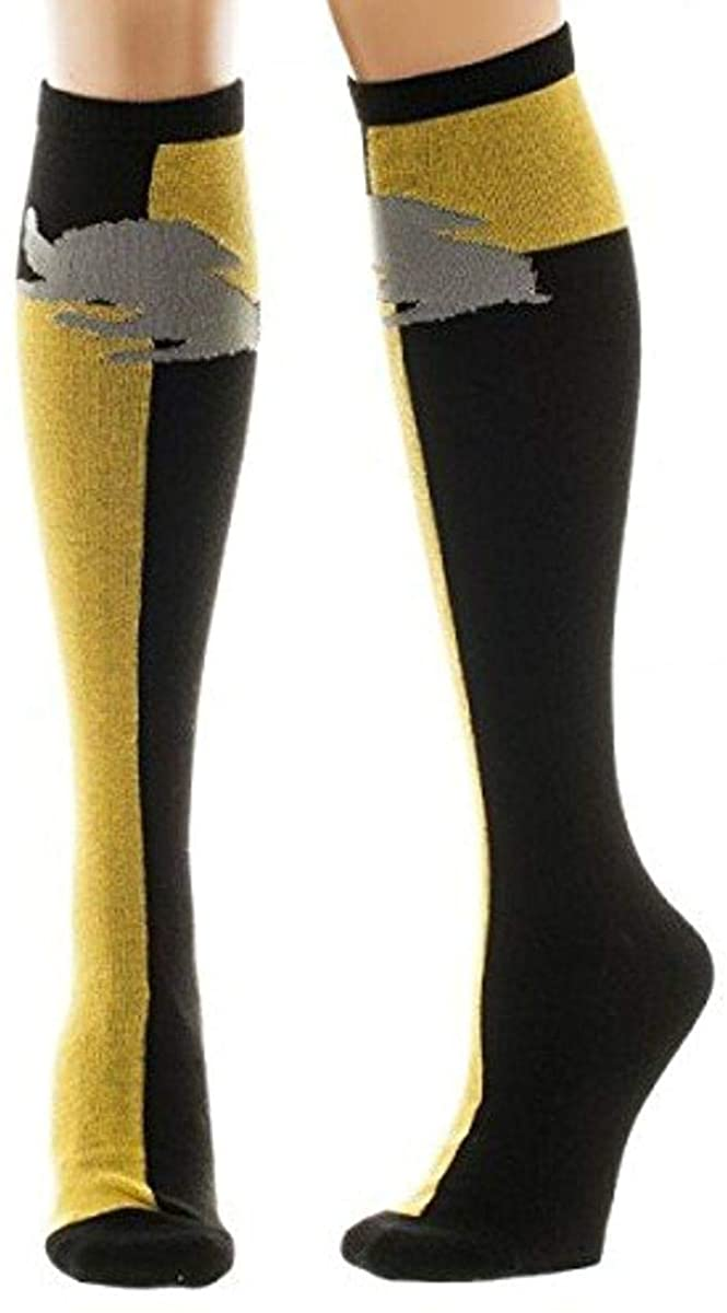 Bioworld Harry Potter Hufflepuff Knee High Socks sock size 911 ,For Ages 14 and Older ,BlackYellow