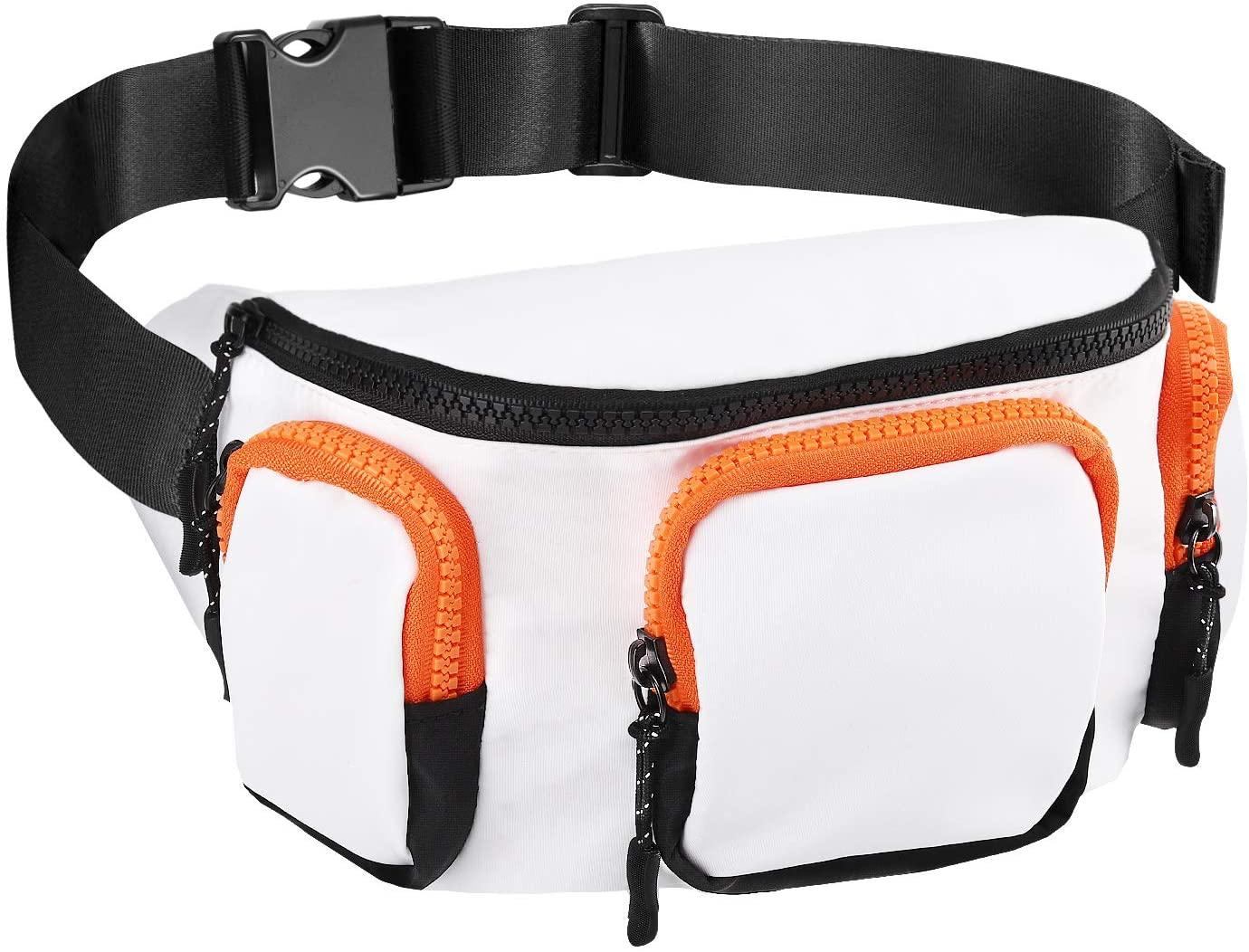 MoKo Fanny Pack Bag, Travel, Walking, Running Sport Waist Bag Hip Pack Chest Shoulder Bag for Man Women
