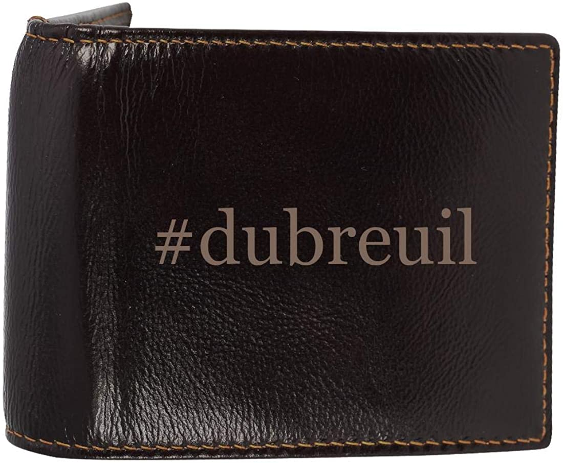 #dubreuil - Genuine Engraved Hashtag Soft Cowhide Bifold Leather Wallet
