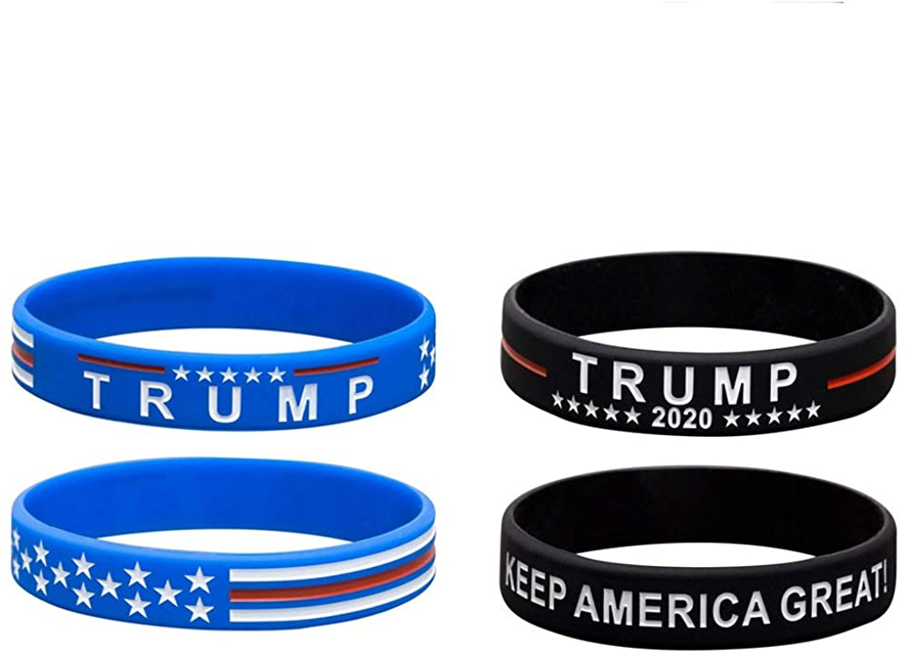 PRSTENLY Trump Keep America Great for President 2020 Silicone Bracelets-Inspirational Motivational Wristbands