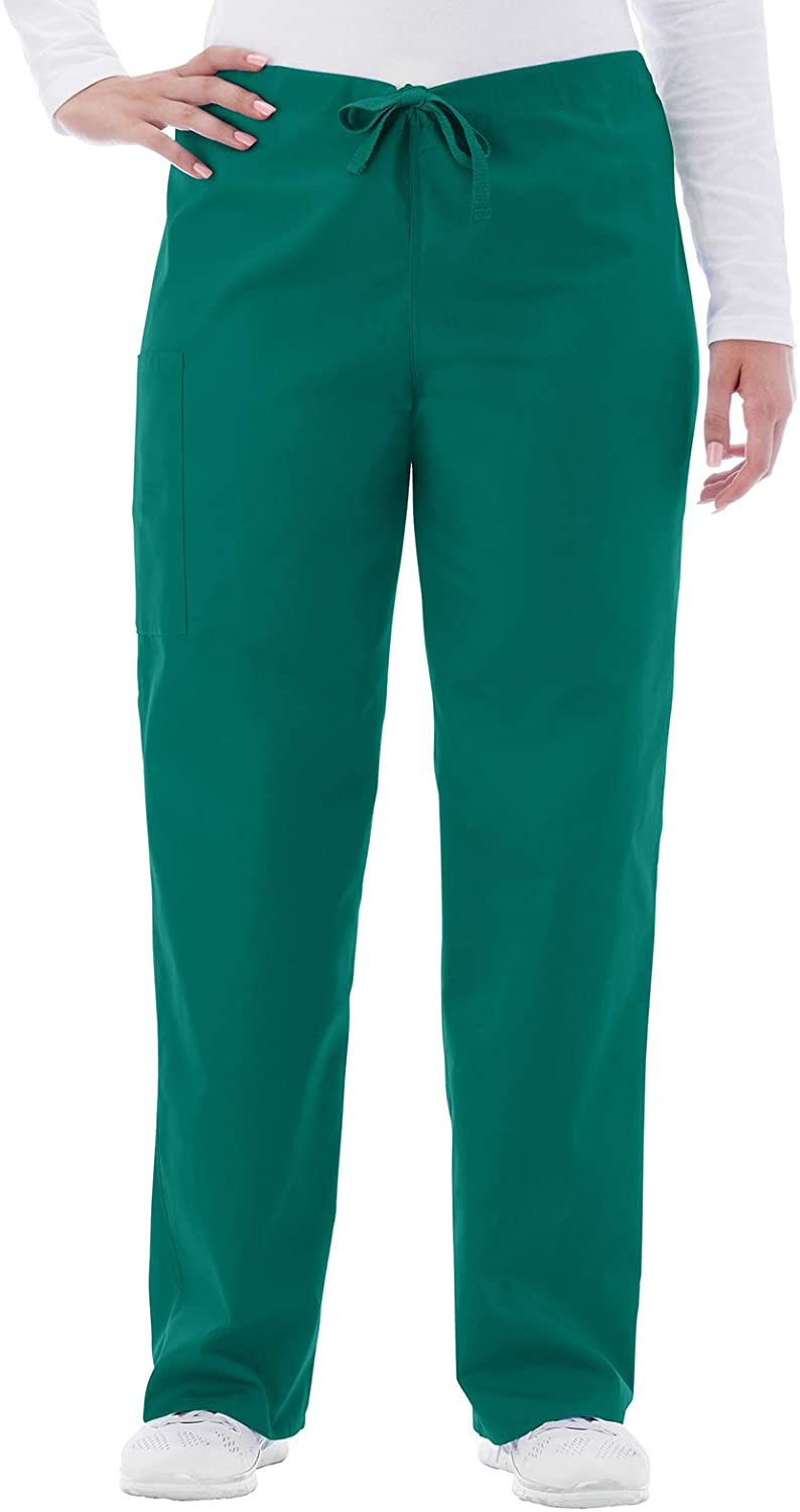 White Swan Fundamentals 14920 Unisex Drawstring Scrub Pant Hunter Green 4XL