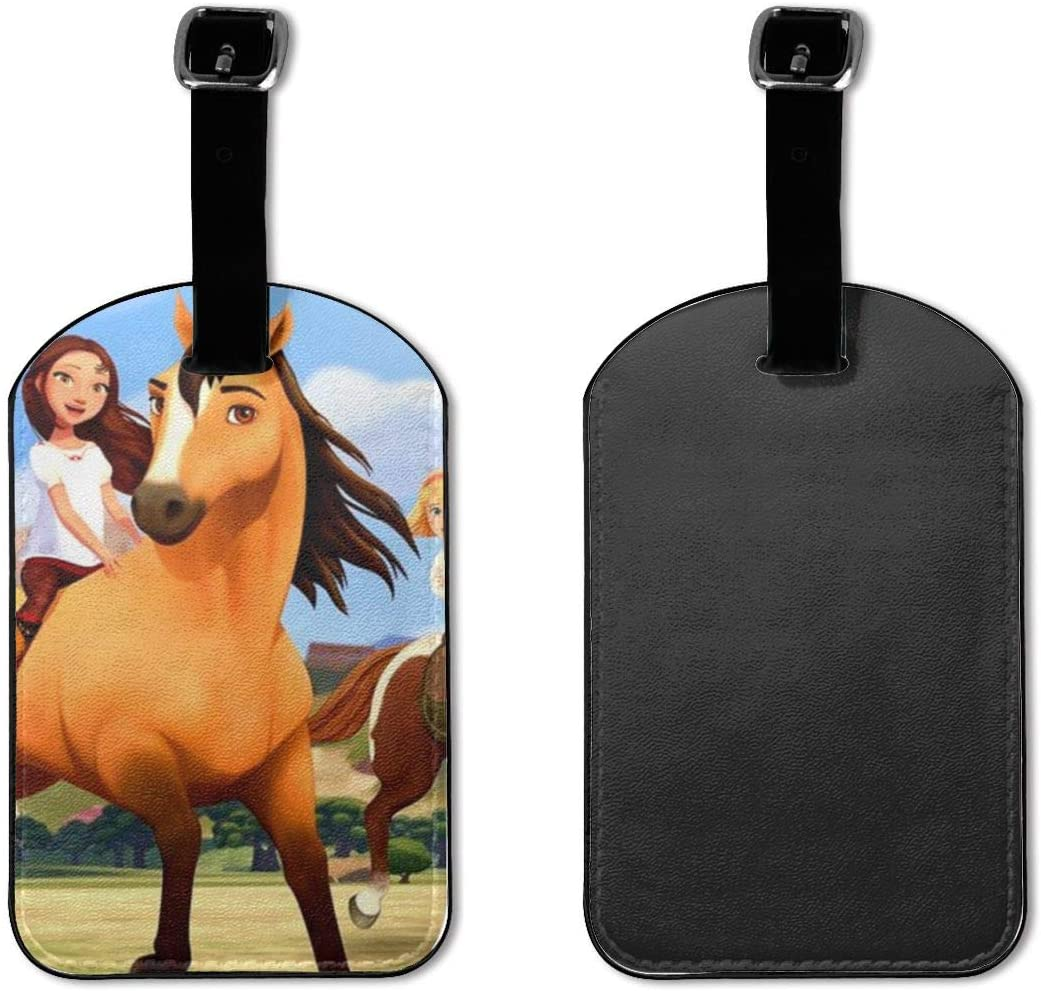 Spirit Stallion Of The Cimarron Suitcase Labels Bag Carry-On Id Tags Travel Accessories Set Of 2