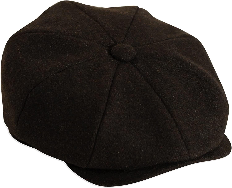 'Shelby' Black Herringbone Cap by Gamble & Gunn