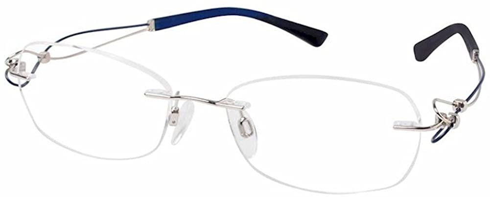 Charmant Line Art Eyeglasses XL2064 XL/2064 WP White Rimless Optical Frame 51mm