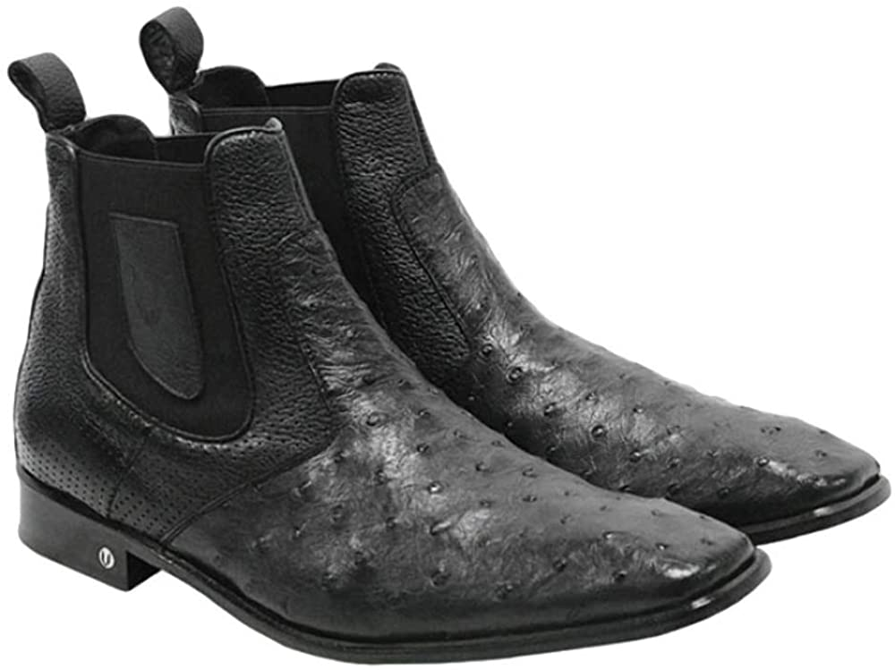 Men's Vestigium Genuine Ostrich Chelsea Boots Handcrafted