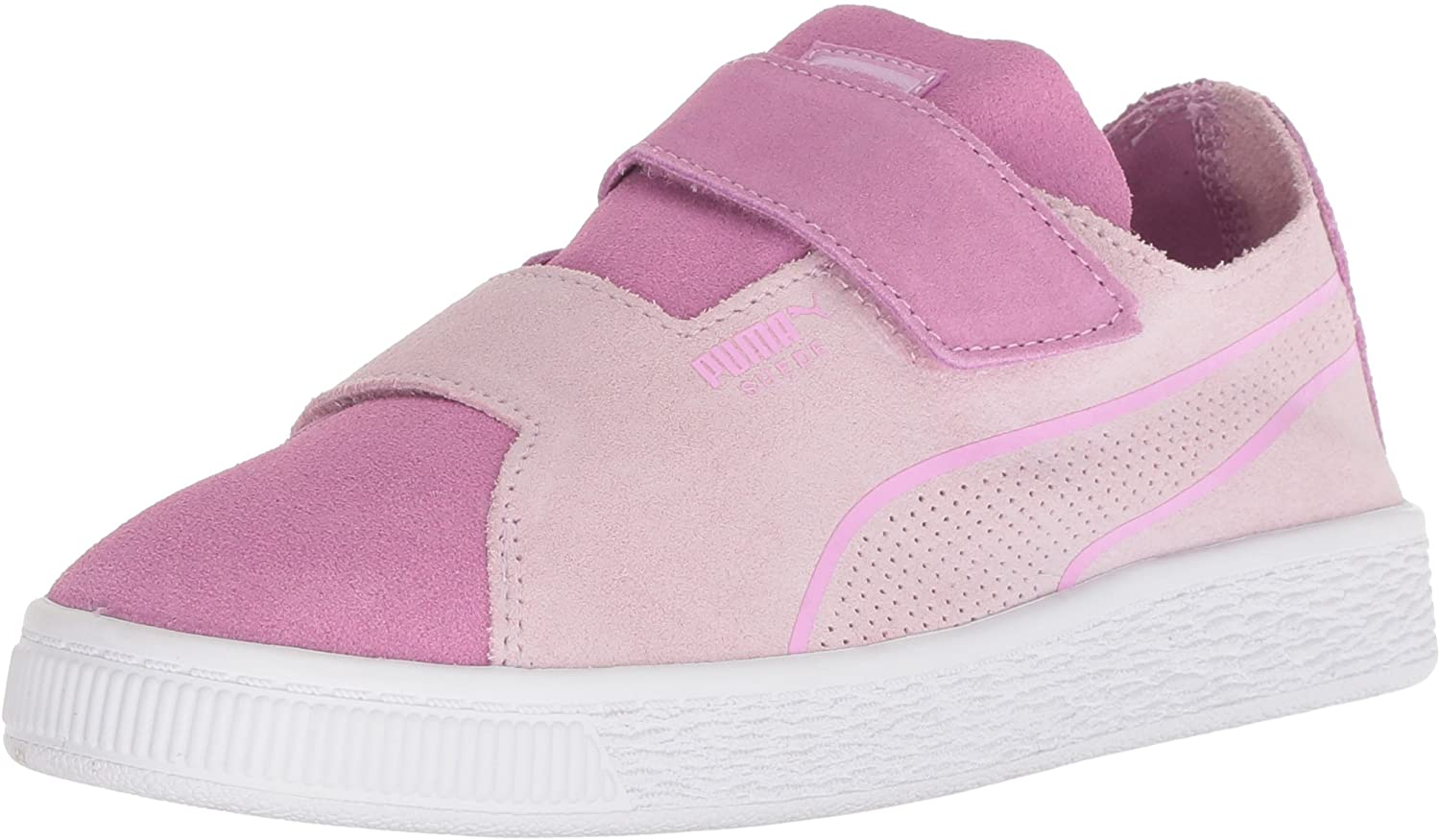 PUMA Kids' Suede Deconstruct Hook and Loop Sneaker, Winsome Orchid-Orchid, 1.5 M US Little Kid