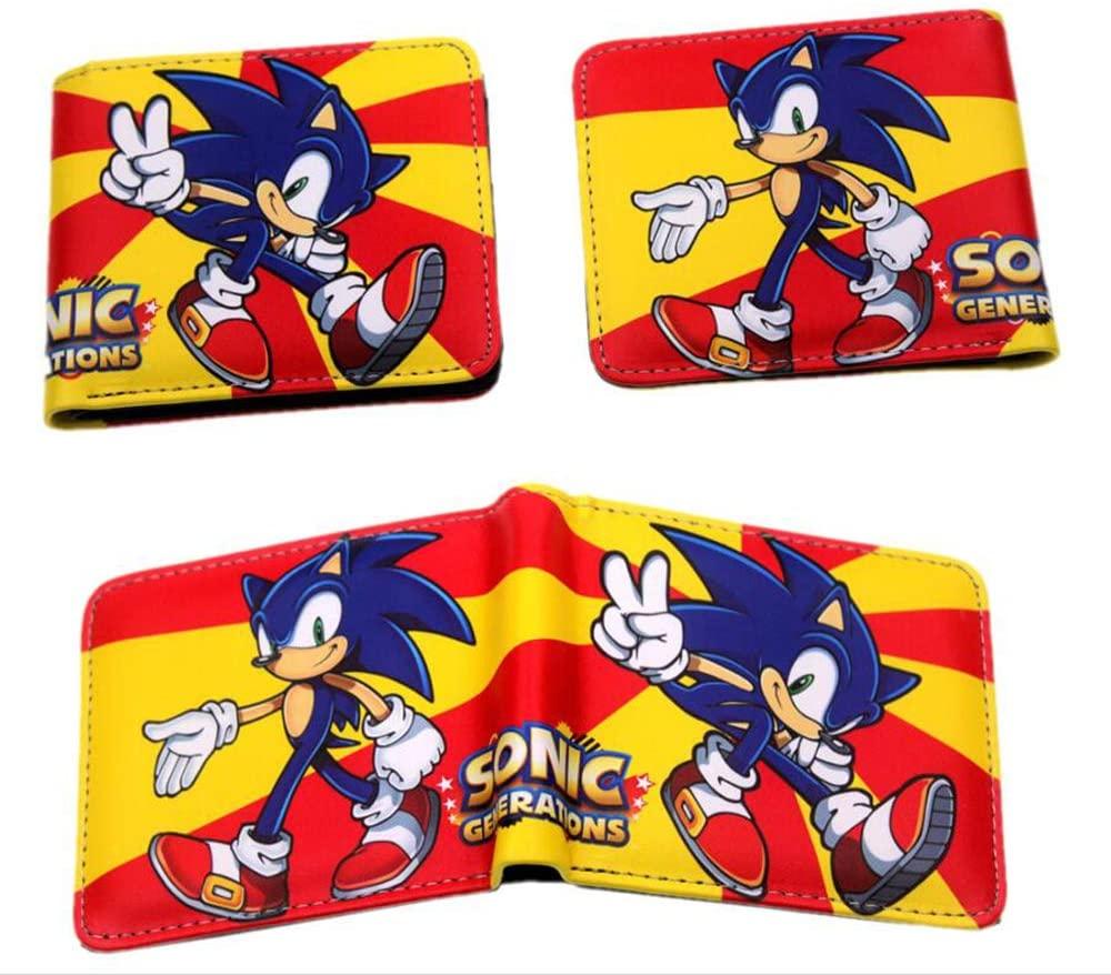 3 pcs Game Figures Sonic the Hedgehog Wallet ID Credit Card Holder Coin Pocket for Boy Girl