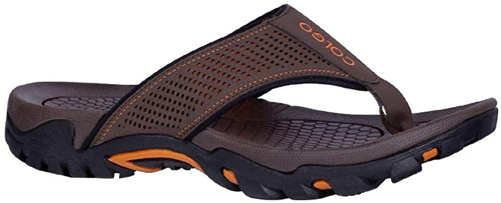 Colgo Flip Flops for Men with Arch Support Casual Comfort Mens Thong Sandals Indoor Outdoor Sport Walking Beach Sandals