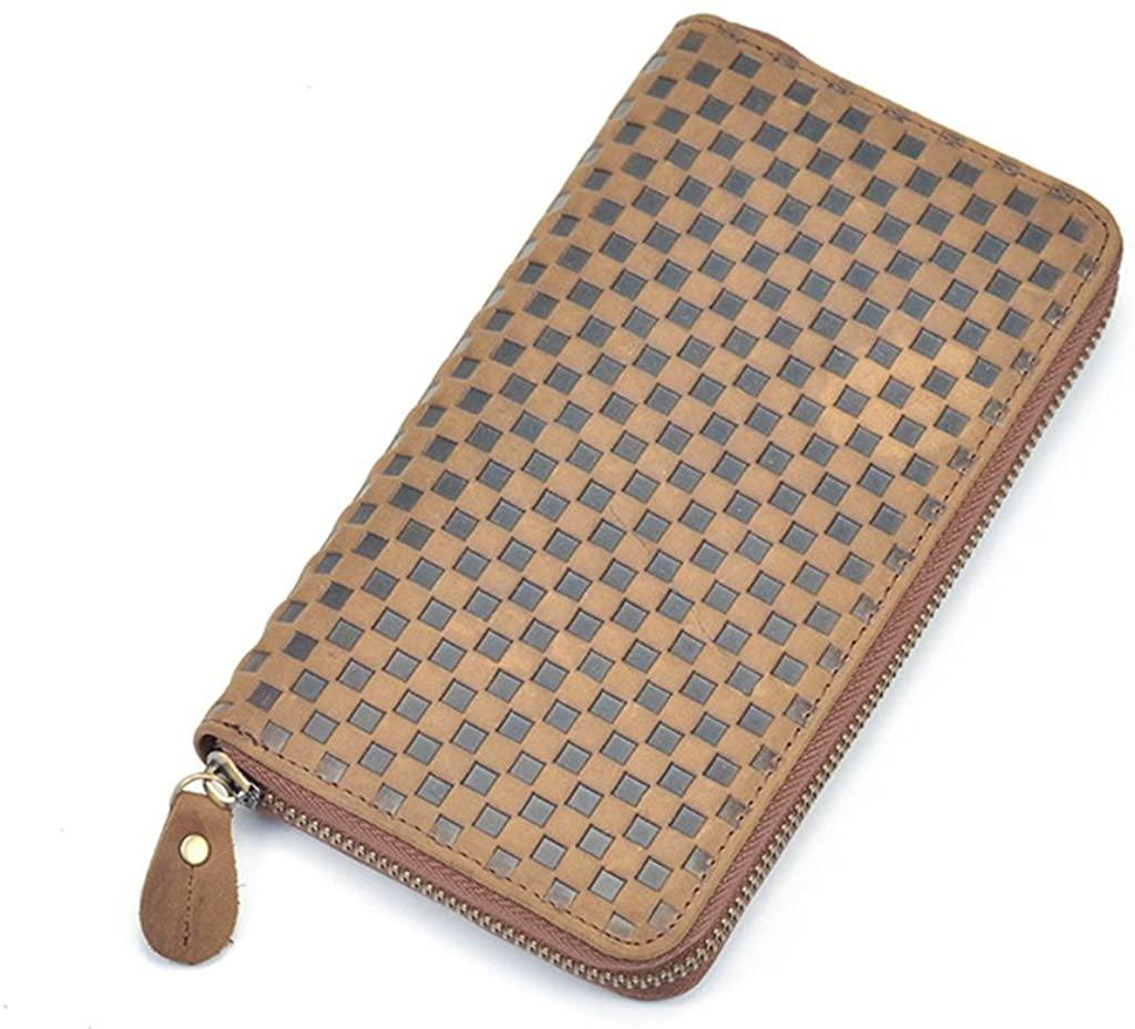 Men's Leather Wallet RFID Blocking Credit Card Holder Coin Pocket Purse 19x10.5x2.5CM,#1