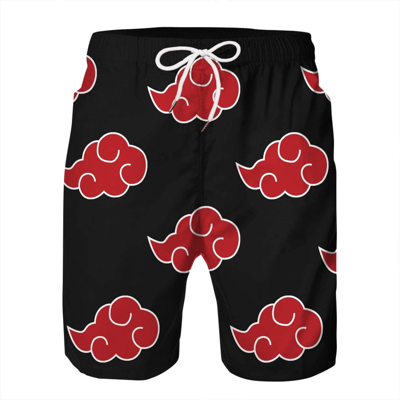 KIDVOVOU Men's 3D Anime Print Summer Beach Board Shorts Swim Trunks Swimwear