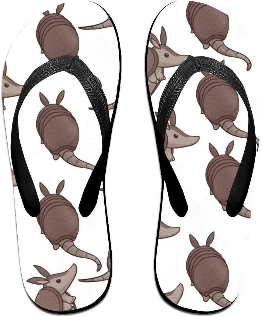 JINYOUR Purple Armadillo Unisex Flip Flops Summer Slippers Shoes Beach Sandal