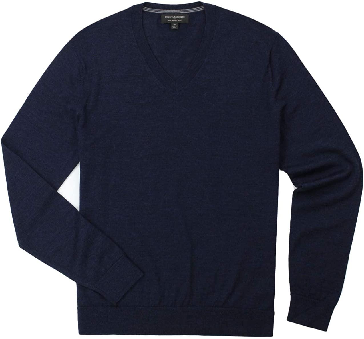 BANANA REPUBLIC - Men's - Merino Wool V-Neck Sweater