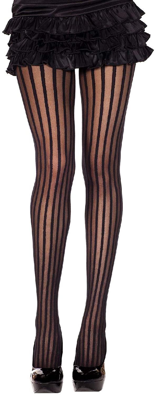 MUSIC LEGS Women's Pin Striped Sheer Pantyhose