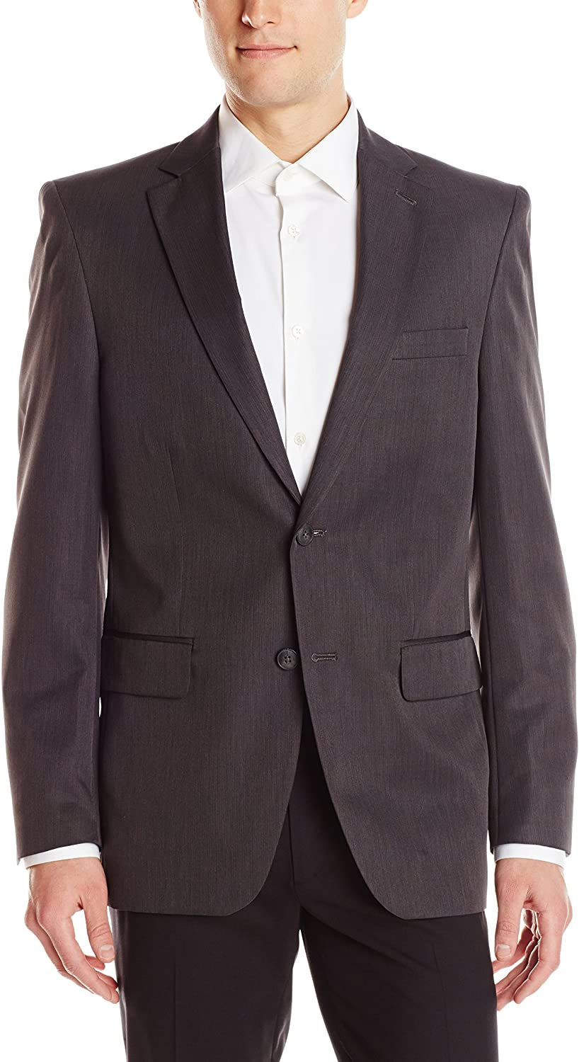 Haggar Mens Travel Performance Stria-Stripe Tailored-Fit Suit Separate Coat