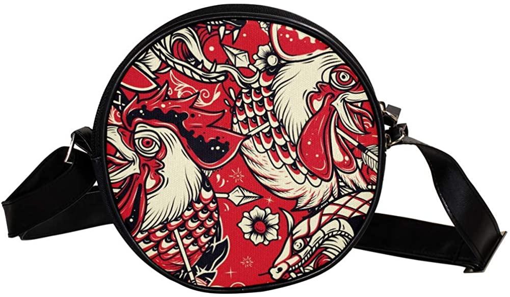 Coin Purse For Kids Snake Rooster Illustration Mini Crossbody Bag Girls Wallet