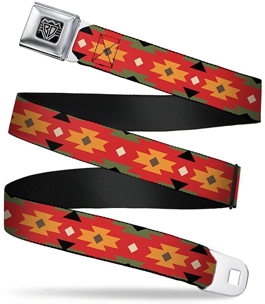 Buckle-Down Seatbelt Belt - Navajo Tan/Rust/Olive/Black - 1.0