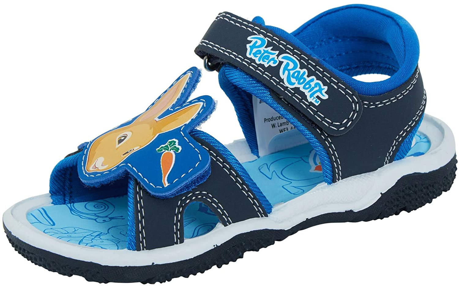Boys Peter Rabbit Sports Sandals Easy Fasten Shoes
