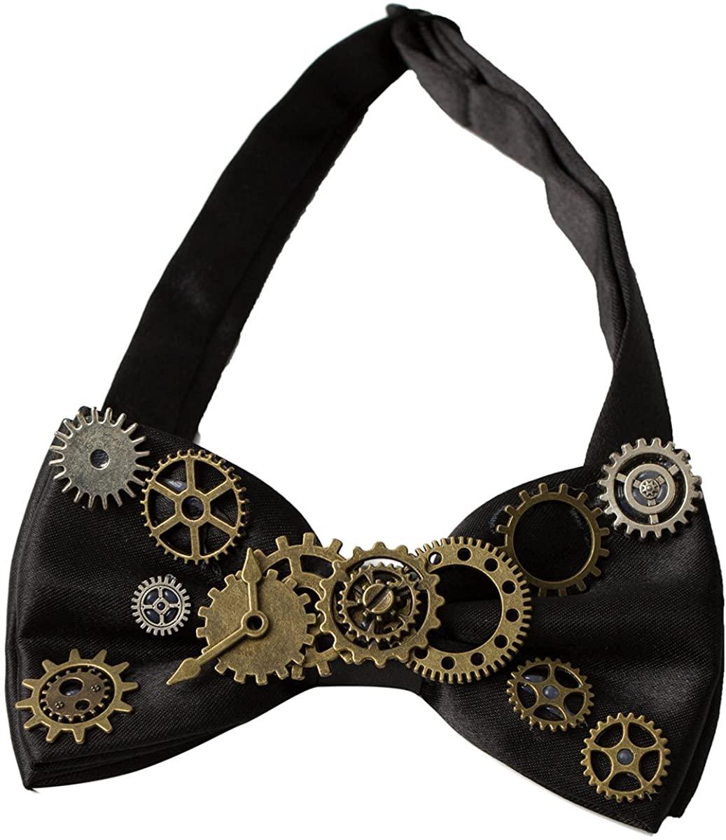 KOGOGO Steampunk Gears Bowtie Retro Costume Accessory