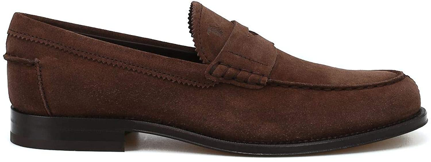 Tods Luxury Fashion Man XXM0RO00640RE0S402 Brown Suede Loafers | Season Permanent