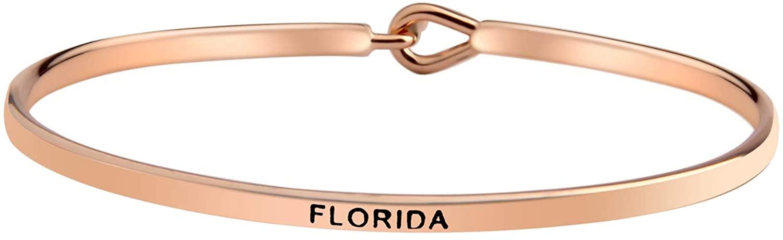 WUSUANED New York City Hook Bangle Bracelet State Jewelry I Love NY Gift for Best Friend