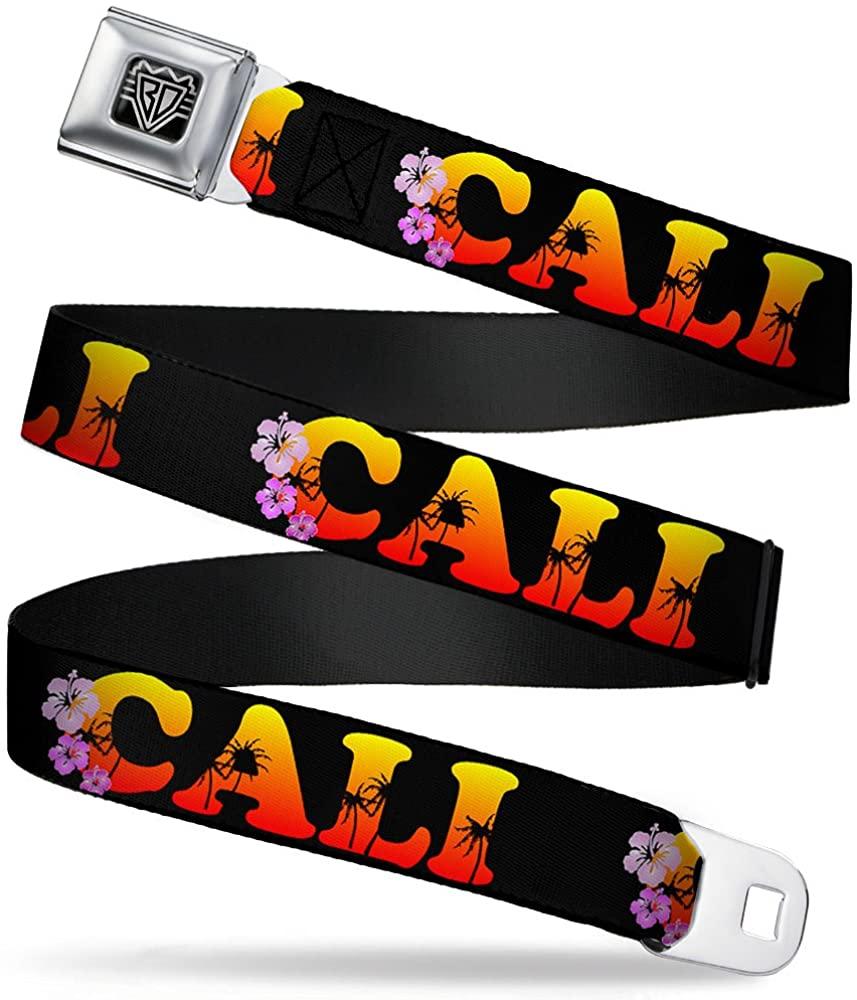 Buckle-Down Seatbelt Belt - CALI Tropical Black/Multi Color - 1.5