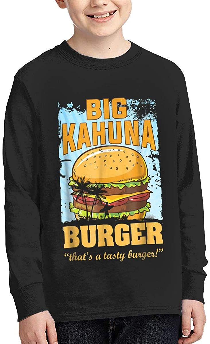 Chlac Youth Big Kahuna Burger Sports Boy Or Girl Long Sleeve Shirt-Moisture Absorbing and Perspiration.