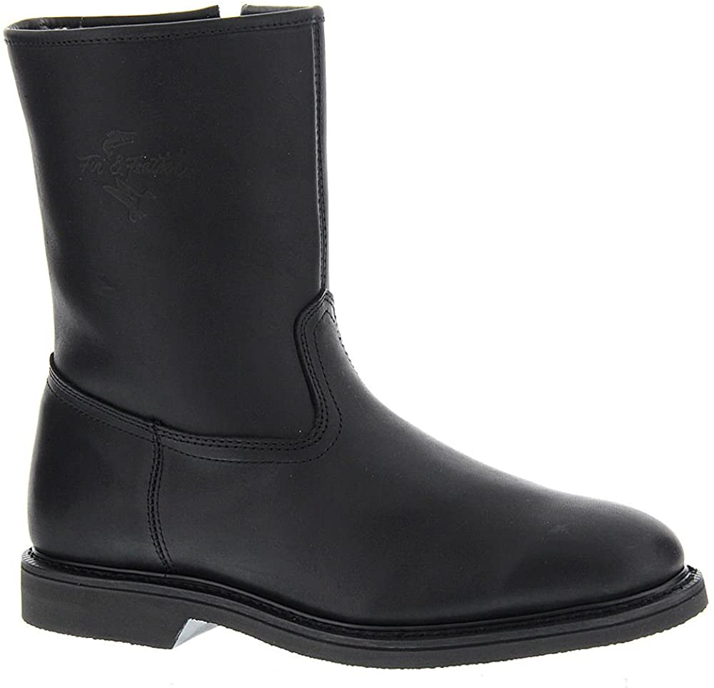 Fin & Feather Mens fin & FEA Leather Closed Toe Mid-Calf Motorcycle Boots