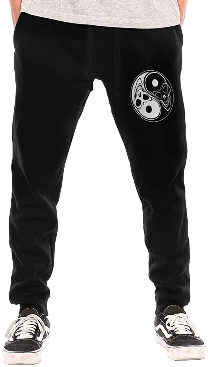 Yin Yang Skeleton Men Jogger Sweatpants Sports Long Tights Pants