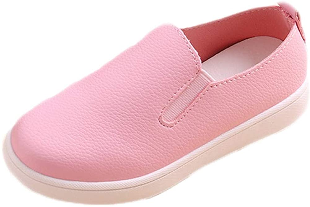 ANYUNIS Toddler Little Kids Slip-On Casual Sneakers Comfort Soft Loafer Shoes for Girls