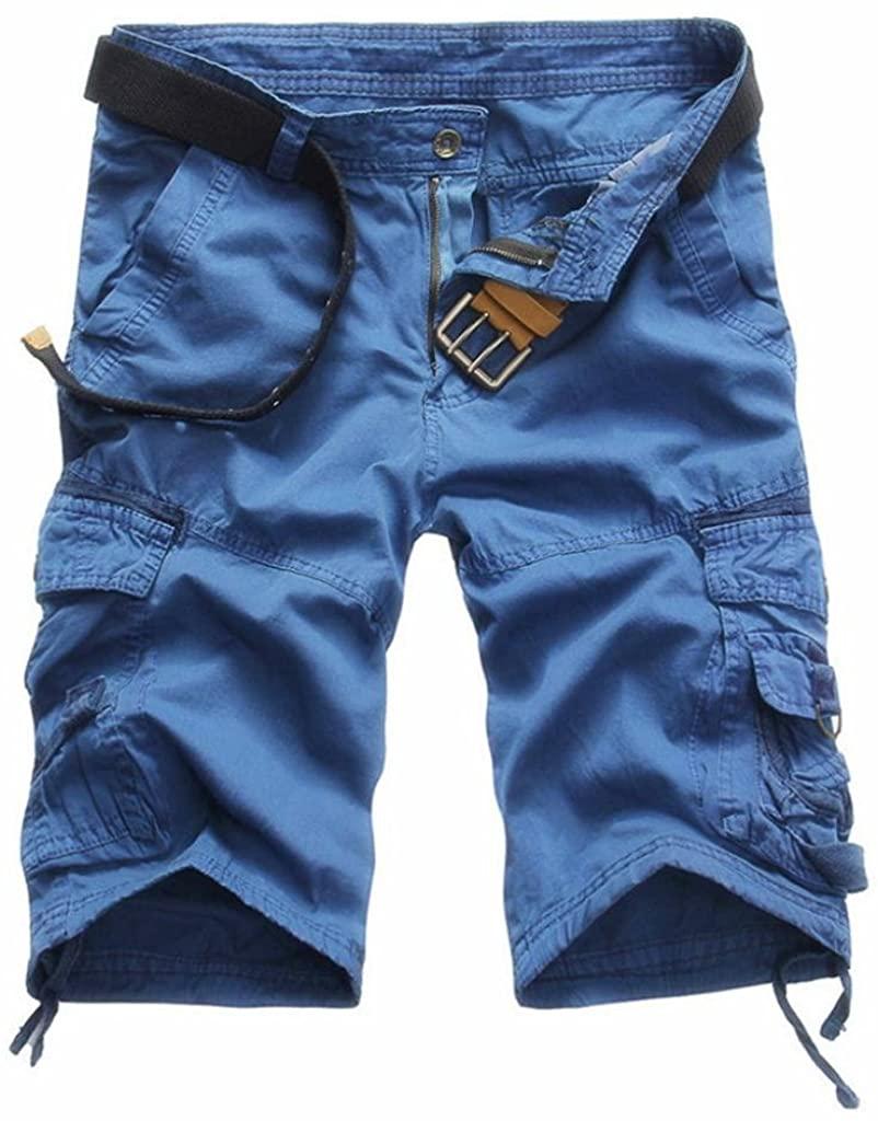 Men Pants Daoroka Men's Casual Pocket Beach Work Casual Short Comfy Fashion Sport Loose Active Trouser