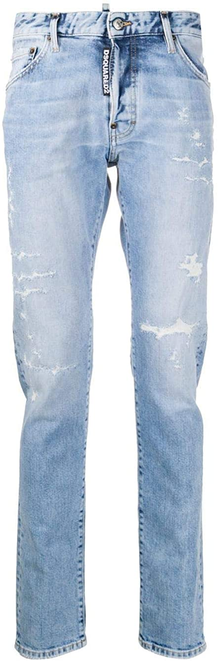 DSQUARED2 Luxury Fashion Man S74LB0746S30663470 Blue Cotton Jeans | Fall Winter 20