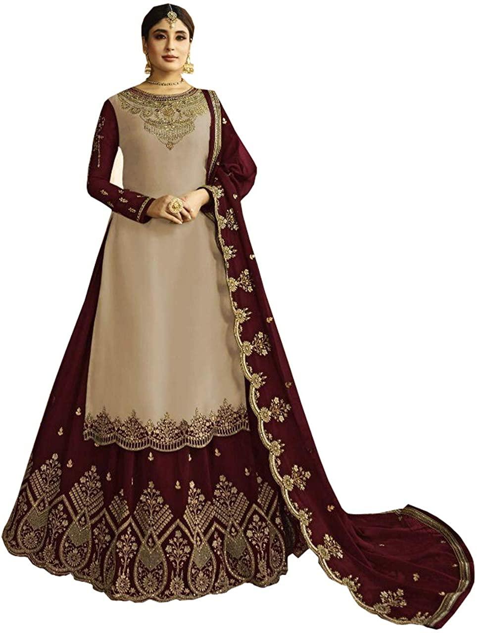 Ghagra/Sharara Styel Suit for Women New Indian/Pakistani Wedding/Party Special Heavy Bridal Lehenga