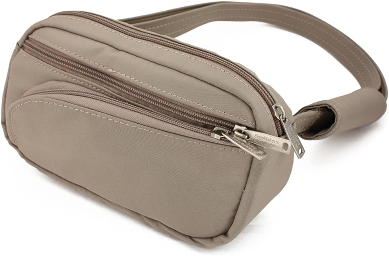 DayMakers BeSafeBags HipSafe Anti-Theft Security Waist Pack w/Organizer, Small, Taupe Microfiber (2nd, defect = the vertical seam in the organizer is off-center)