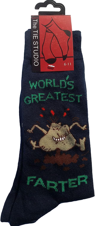 World's Greatest Farter Humour Unisex Novelty Ankle Socks Adult Size 6-11
